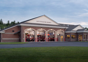 East Putnam, CT Fire station photographed for Robert Mitchell or Mitchell Architects.