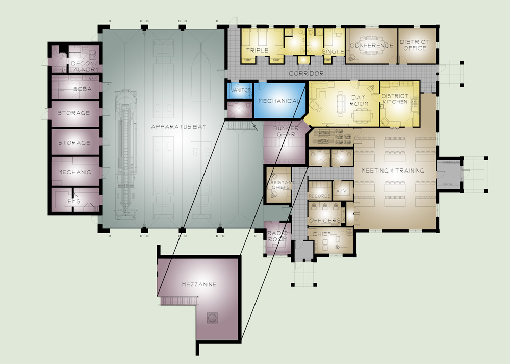 East putnam ny mitchell associates architects for Color floor plans